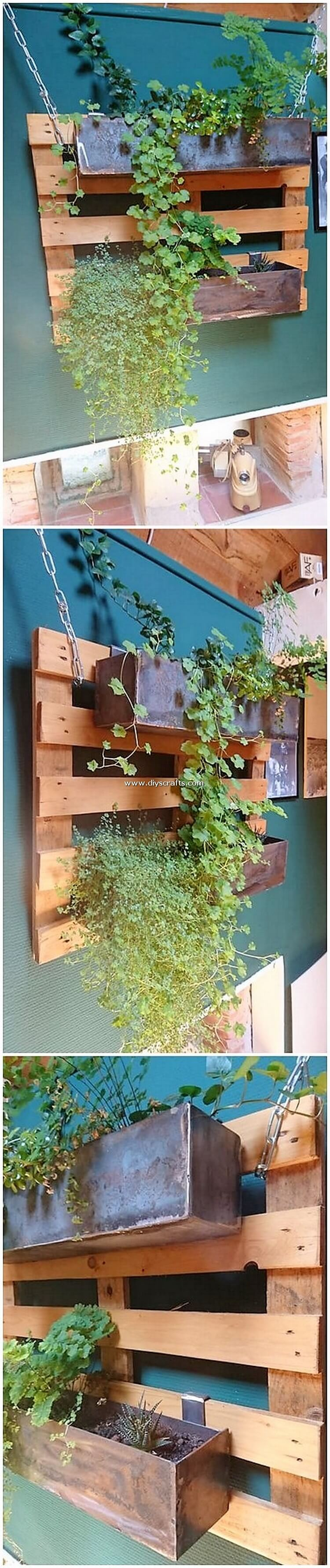 Pallet Wood Wall Planter