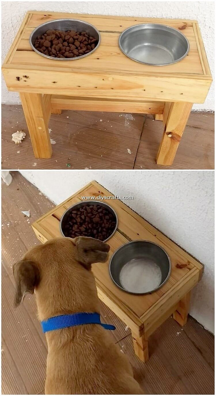 Pallet-Dog-Food-Bowl-Stand