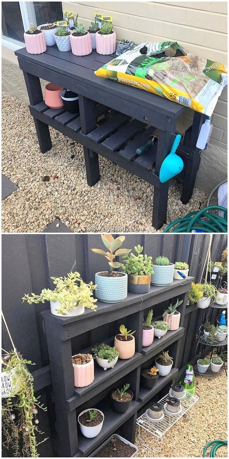 Pallet-Potting-Stand