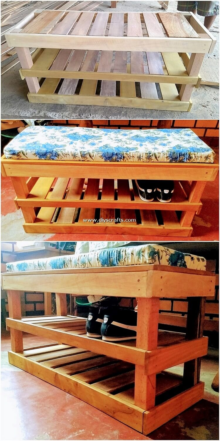 Pallet-Seat-with-Shoe-Rack