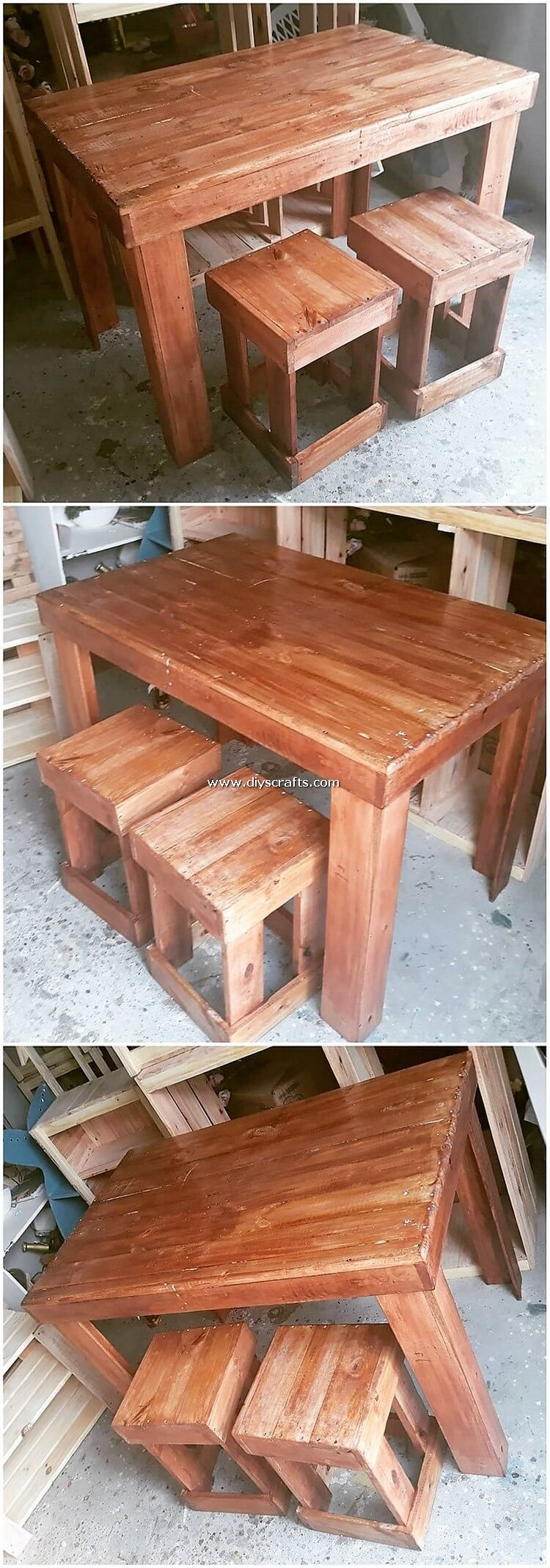 Pallet-Table-and-Stools