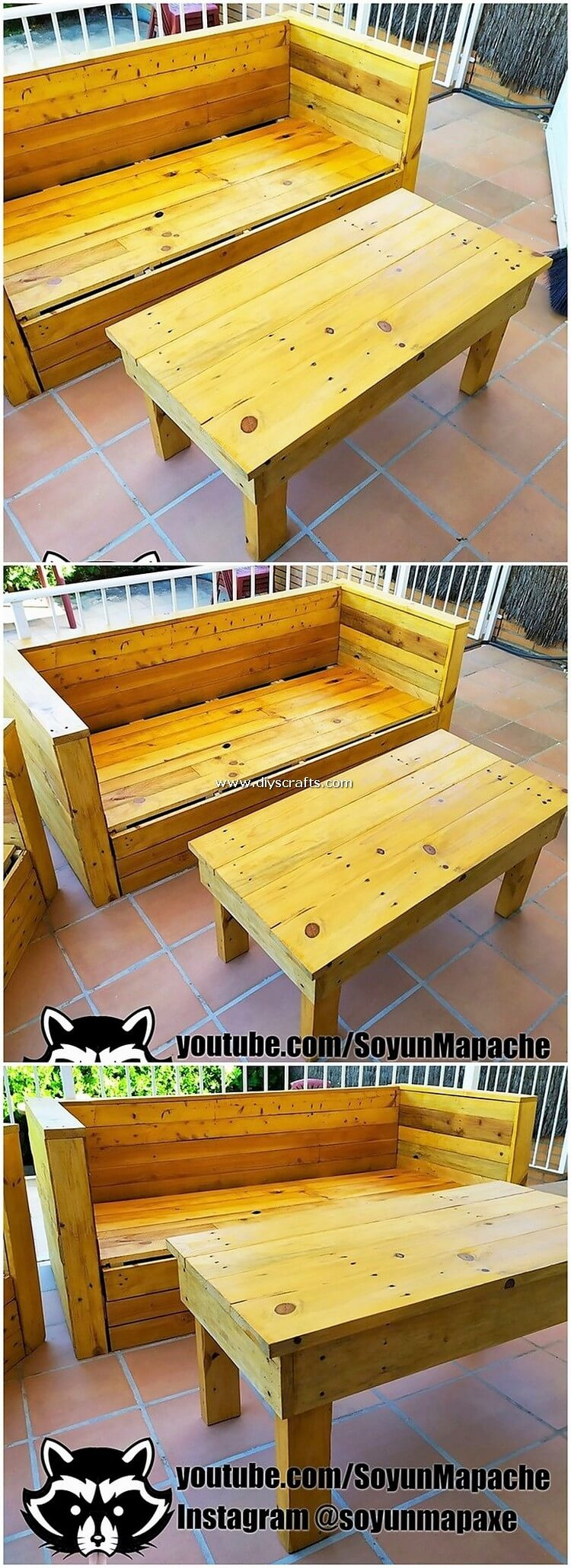 Wood-Pallet-Bench-and-Table