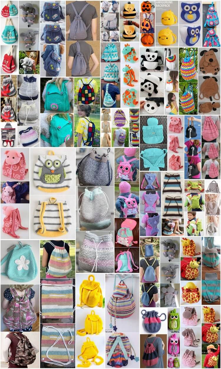 50 Easy Crochet Backpack Free Patterns