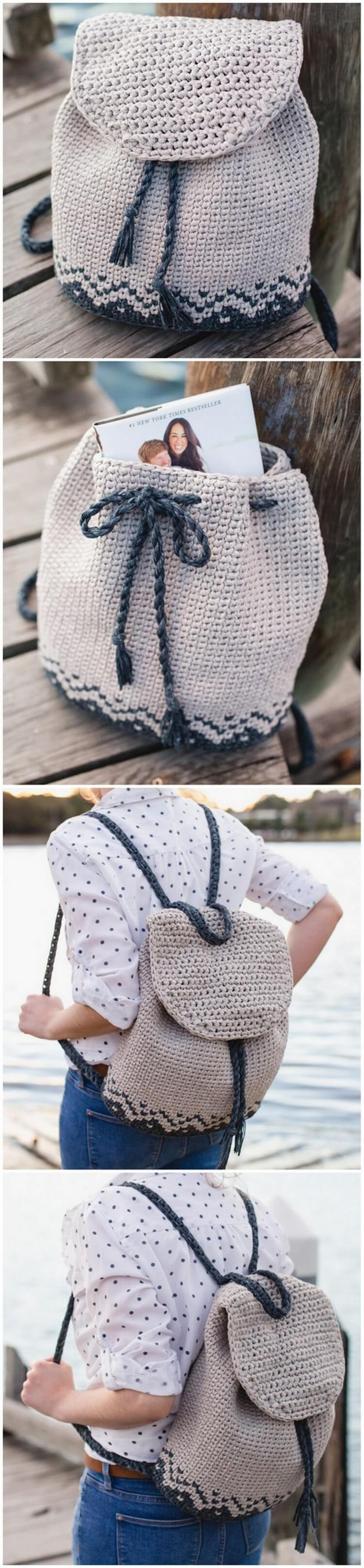 Crochet Backpack Pattern (17)