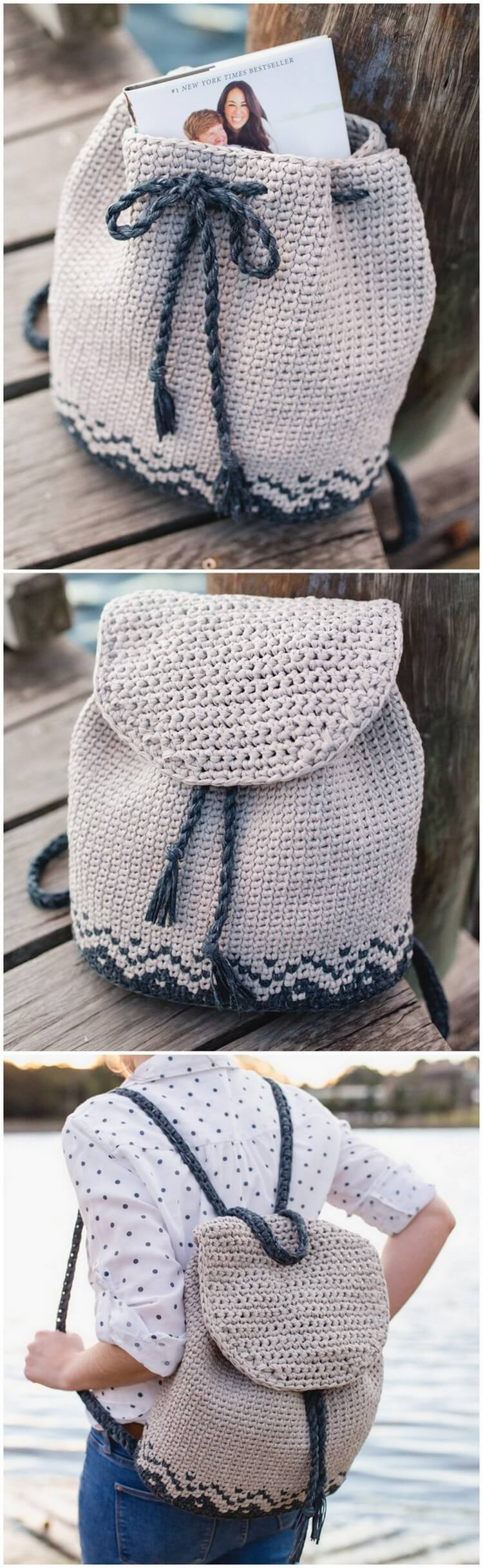 Crochet Backpack Pattern (18)