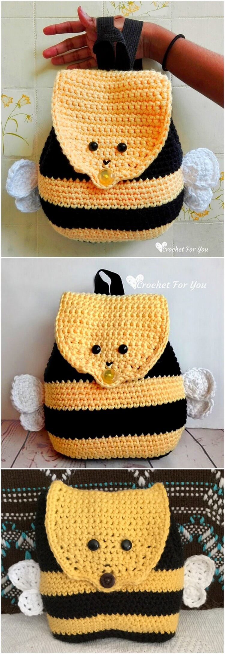 Crochet Backpack Pattern (20)
