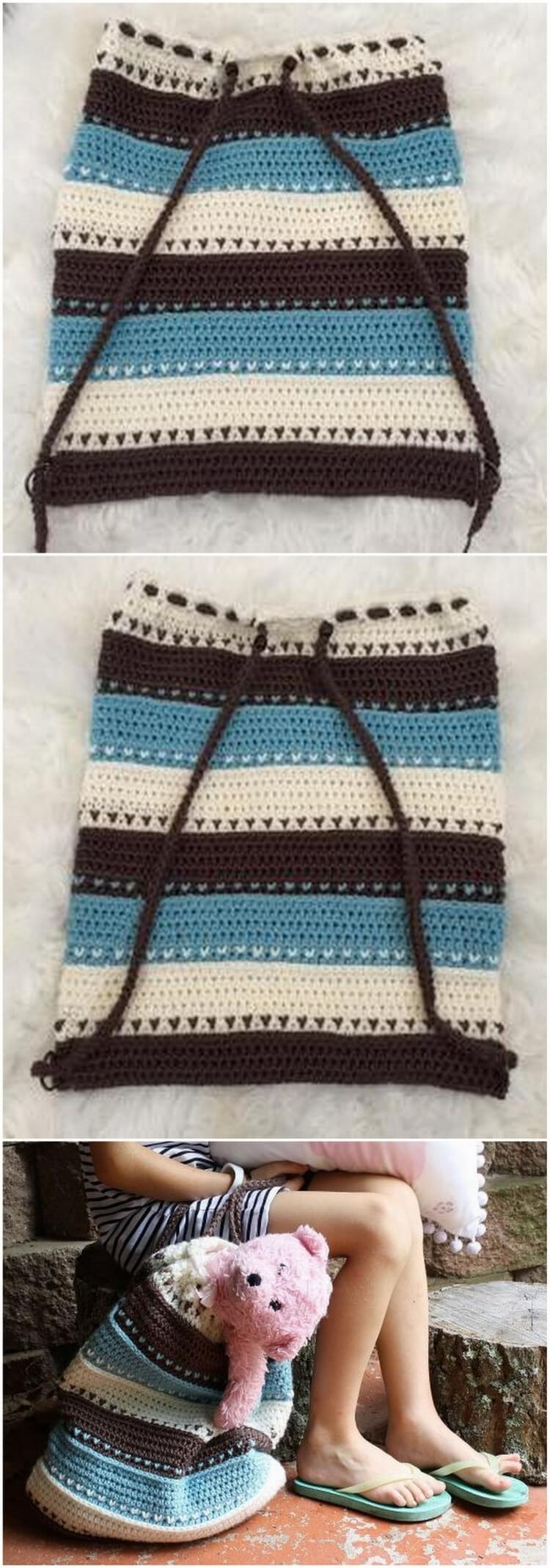 Crochet Backpack Pattern (35)