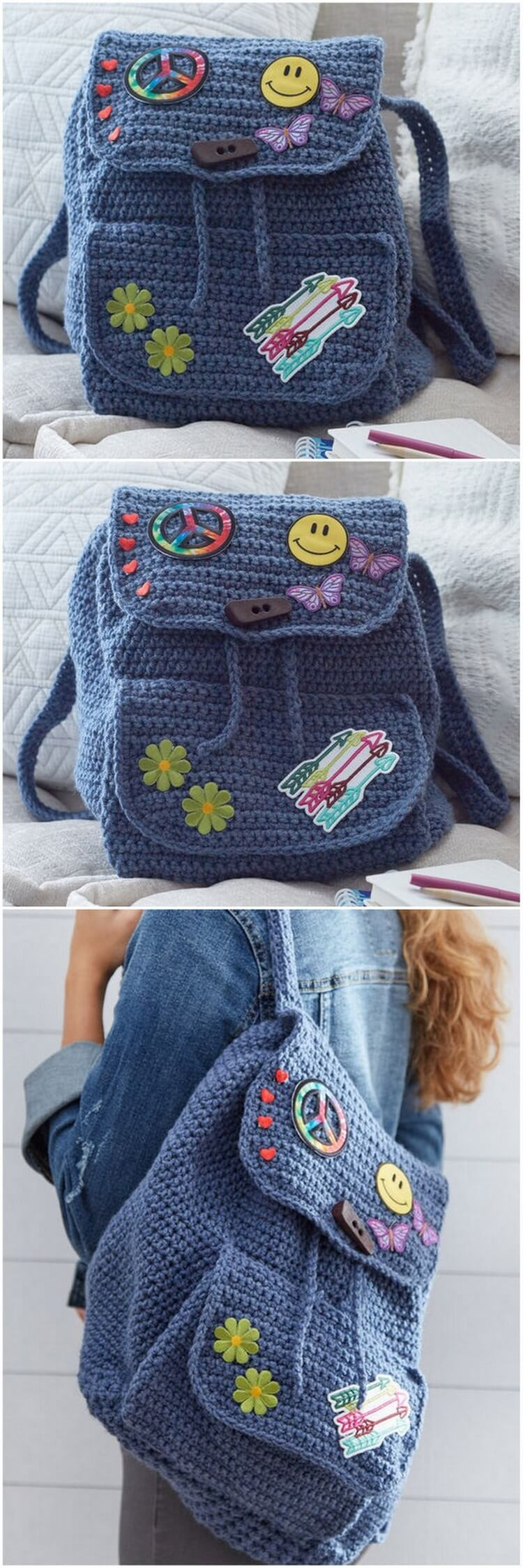 Crochet Backpack Pattern (42)