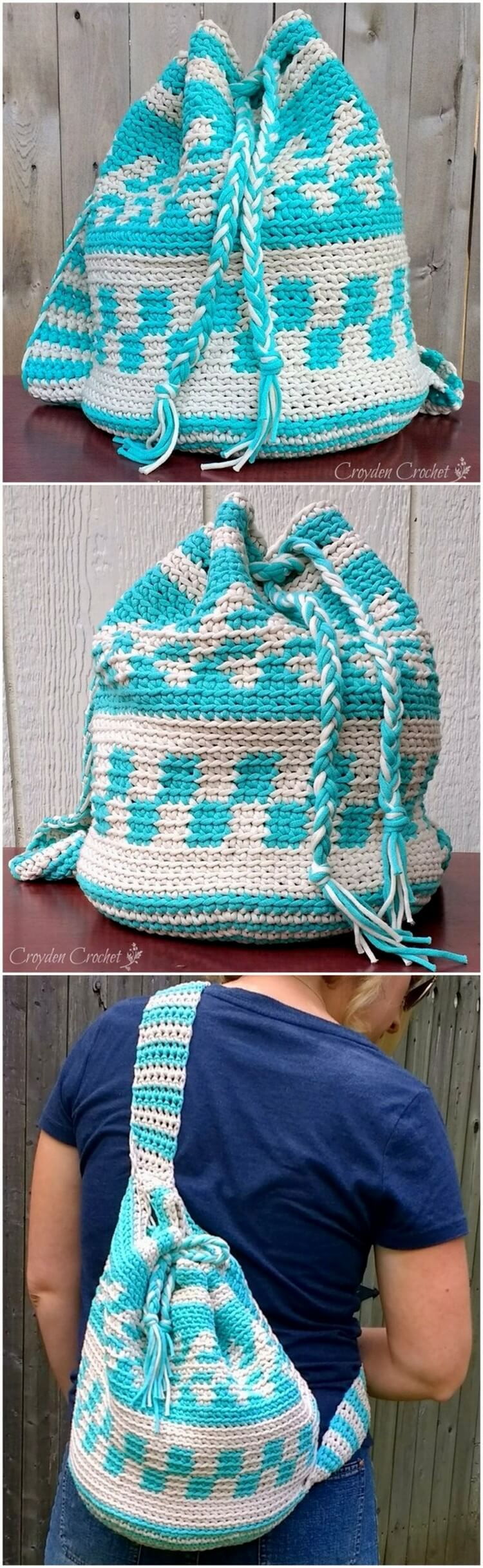 Crochet Backpack Pattern (7)