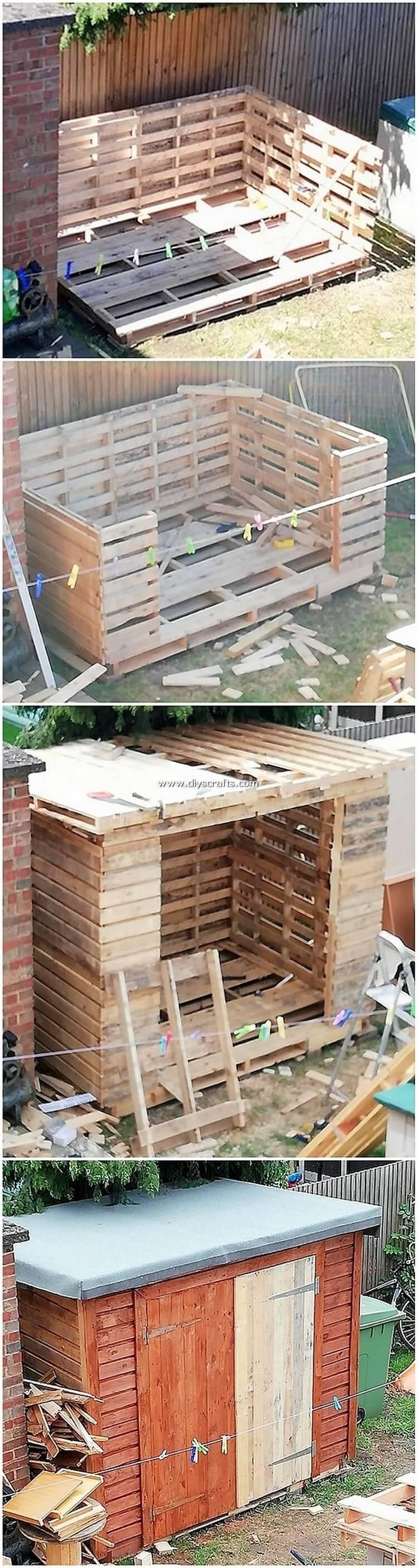 DIY-Pallet-Garden-Shed-or-House