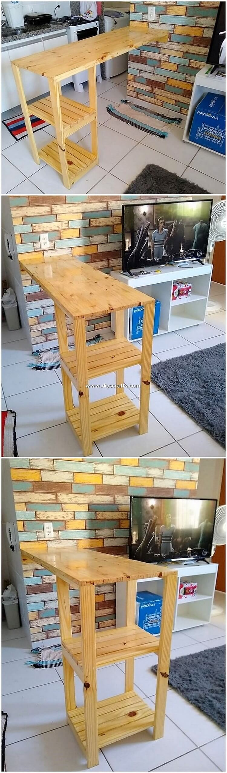 Pallet-Kitchen-Counter-Table