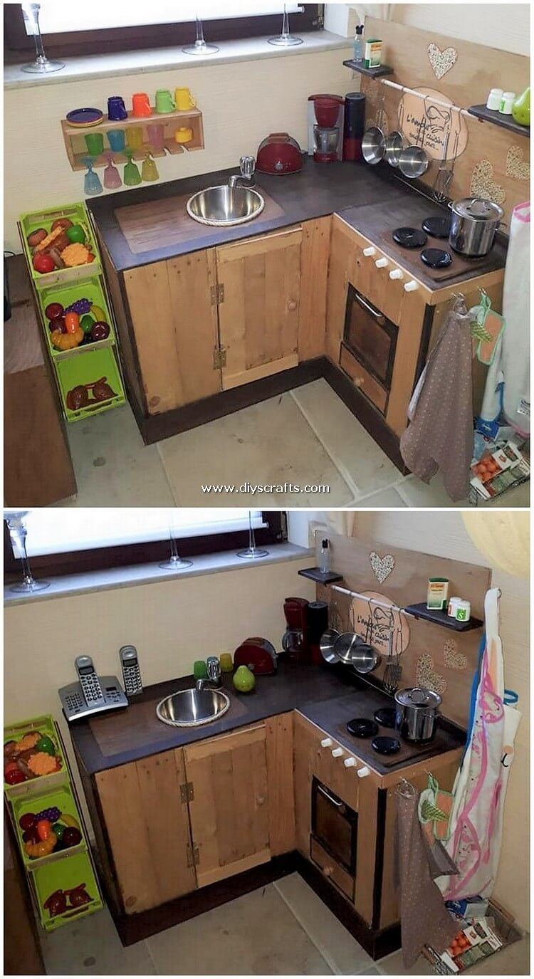 Pallet-Kitchen-for-Kids