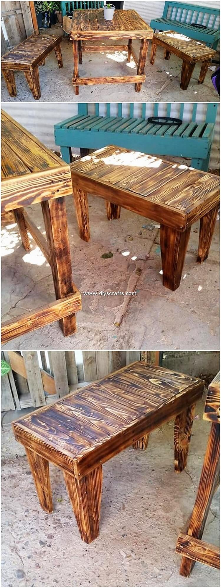 Pallet-Wood-Table-and-Benches