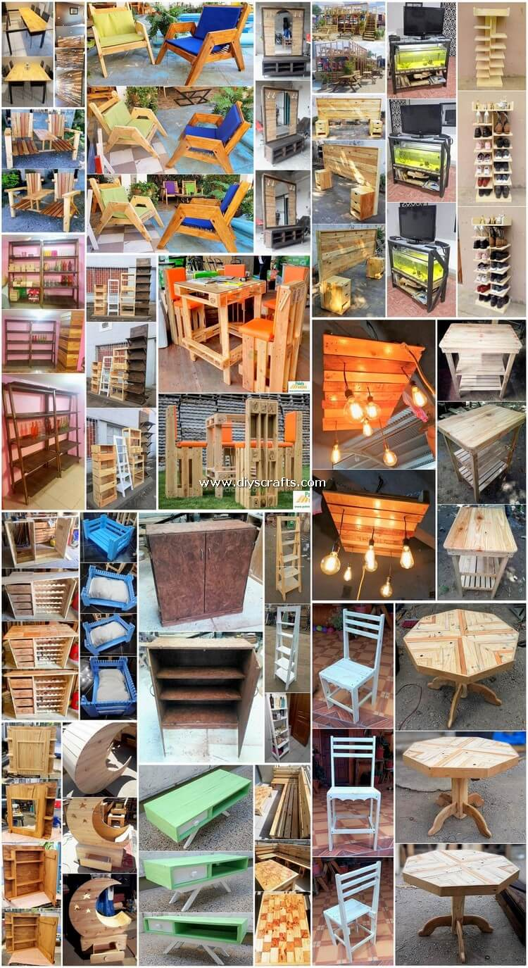 Astute DIY Furniture Ideas Made with Pallets