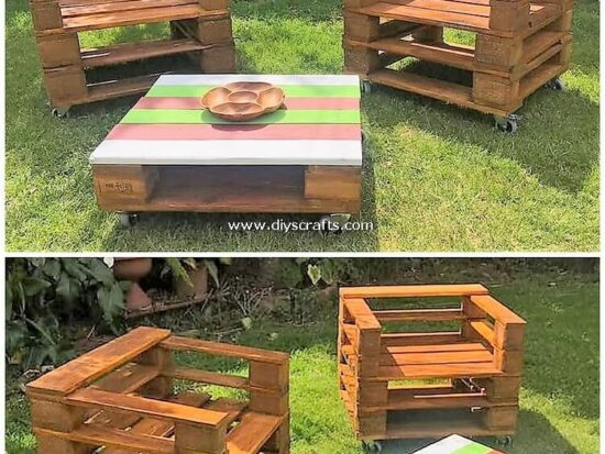 Pallet-Garden-Chairs-and-Table