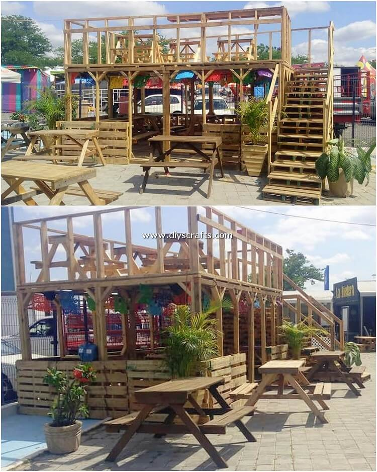 Pallet Outdoor Restaurant