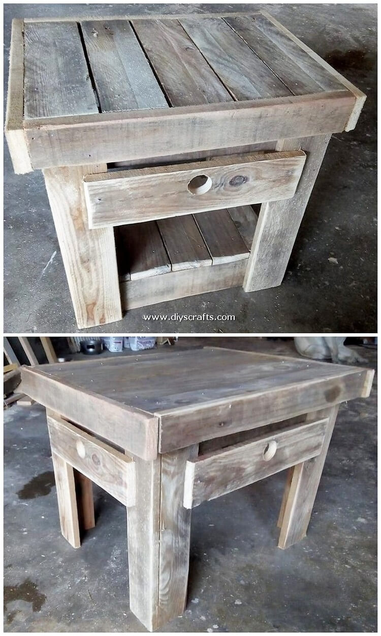 Pallet-Wood-Table-with-Drawer