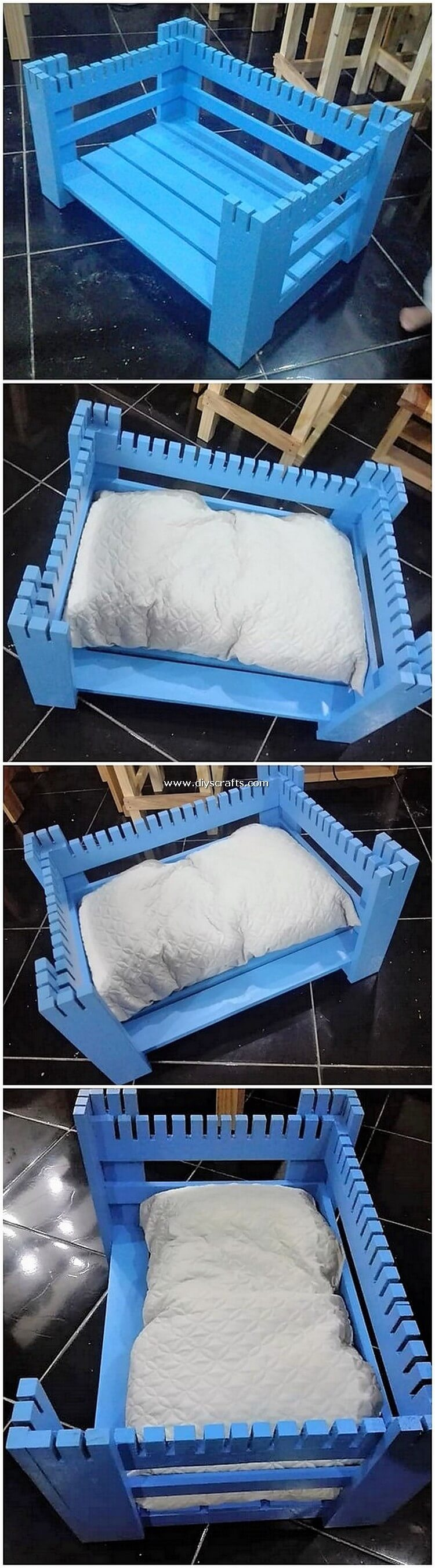 Wood Pallet Pet Bed