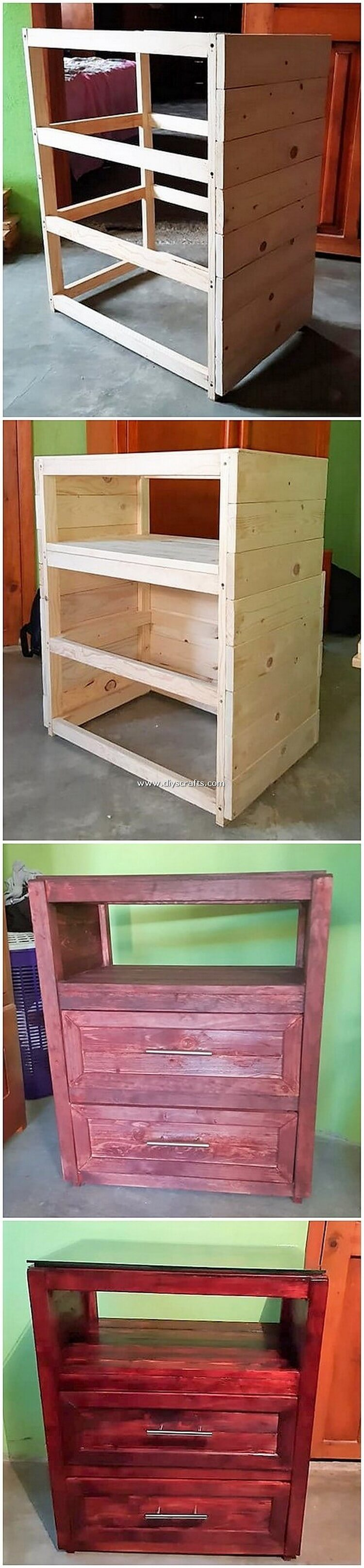 DIY-Pallet-Side-Table-with-Drawers