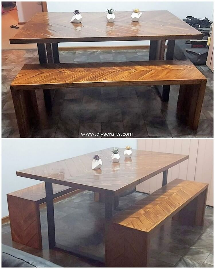Pallet-Dining-Table-and-Bench
